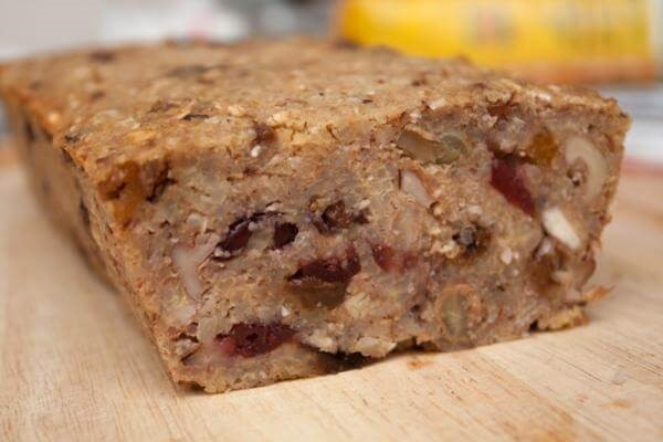 Vegan fruit cake made of millet